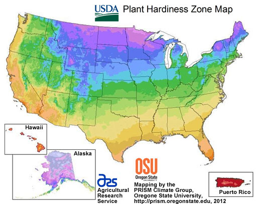 Pond Plant Hardiness Zone Map