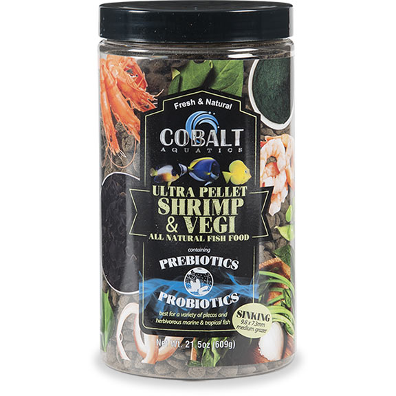 Cobalt Aquatics Ultra Shrimp & Vegi Medium Grazer Sinking Food