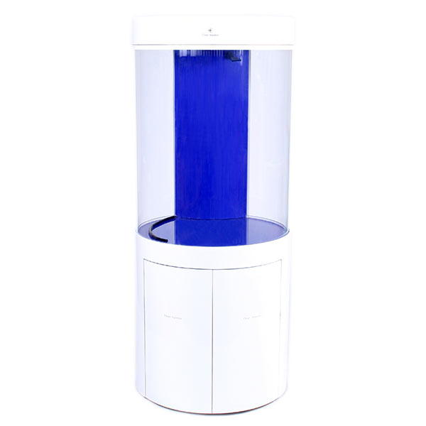 Pro Clear Cylinder Aquarium Model 125 - White