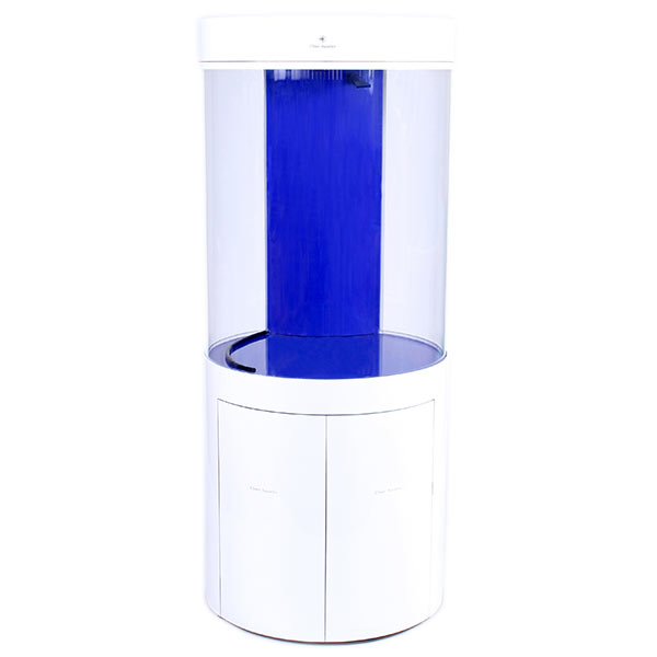 Pro Clear Cylinder Aquarium Model 80 - White