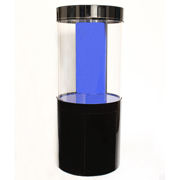 Pro Clear Cylinder Aquarium Model 80 - Black