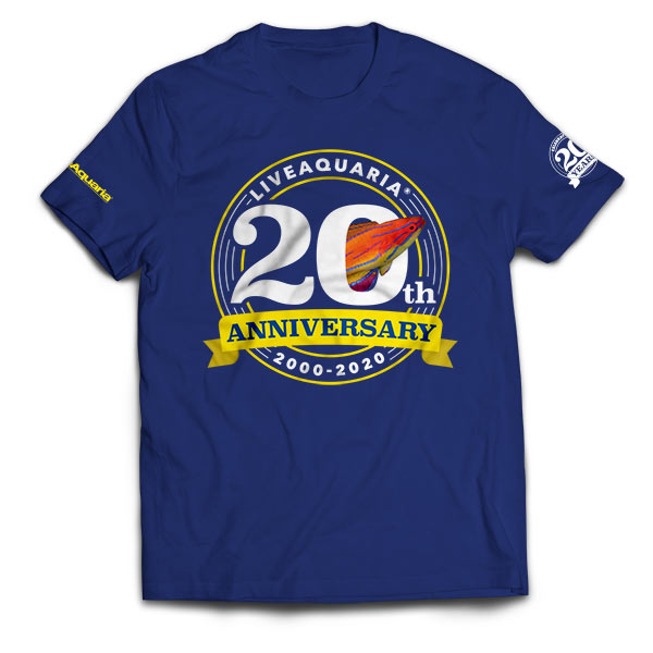 LiveAquaria 20th Anniversary Commemorative T-Shirt