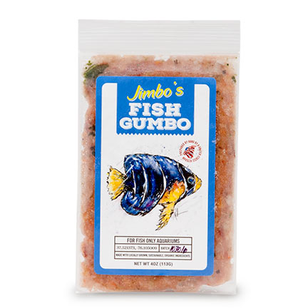 Liveaquaria approved aquatic supplies jimbo 39 s gumbos fish for Frozen fish food
