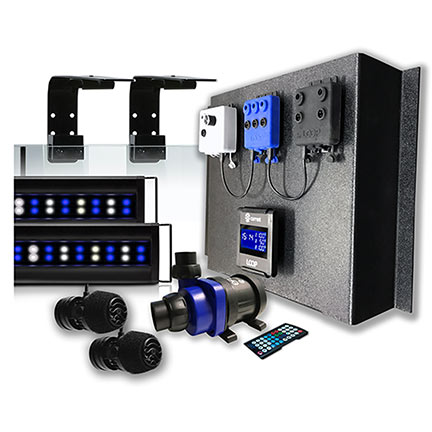 "72"" Current LOOP Marine Bundle Orbit Marine IC PRO LED Light, Wave Pump, & DC Flow Pump Kit"