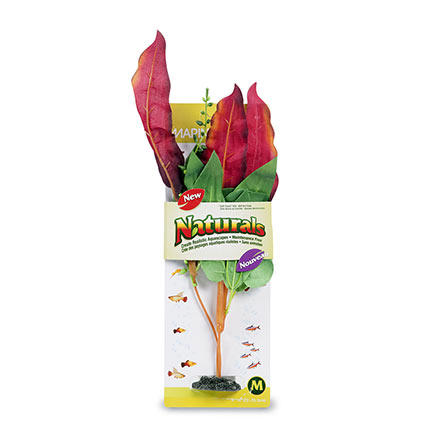 Marina Naturals Medium Red & Green Waffle Leaf Silk Plant