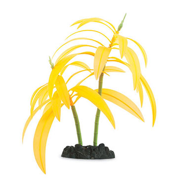 Glow in the Dark Orange Palm Aquarium Ornament