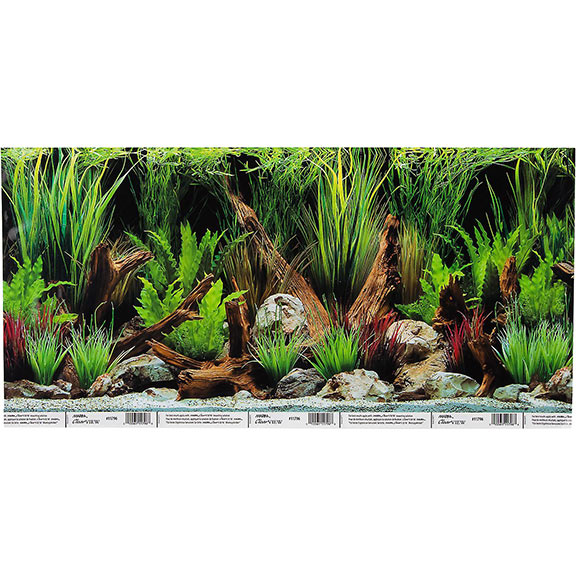 Hagen Marina Reversible Aquarium Background in Planted Oasis-Slate Wall