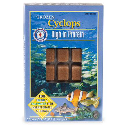 San Francisco Bay Brand® Frozen Cyclops Fresh & Saltwater Fish Food