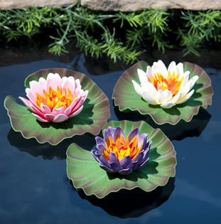 TetraPond Decorative Floating Water Lilies