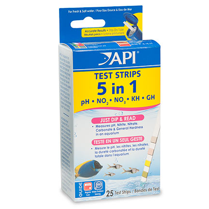 liveaquaria approved aquatic supplies api 5 in 1 aquarium test strips