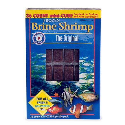 San Francisco Bay Brand Frozen Brine Shrimp Mini Cubes