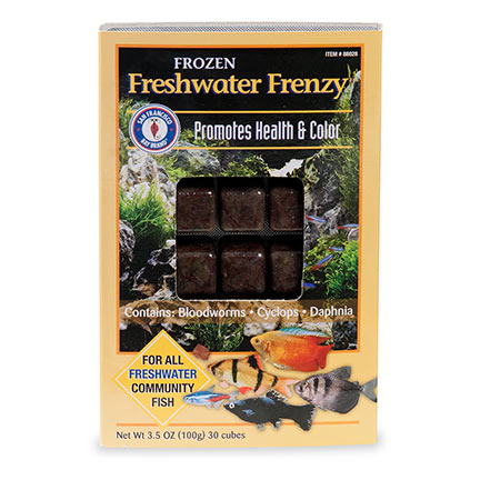 San Francisco Bay Brand® Freshwater Frenzy  Frozen Freshwater Fish Food Cubes
