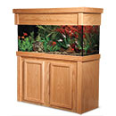 "R&J Enterprises Aquarium Groove Series 48"" x 18"" x 30"" High Cabinet & Canopy"