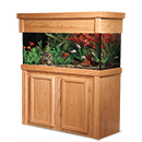 "R&J Enterprises Aquarium Groove Series 48"" x 24"" x 30"" High Cabinet & Canopy"