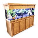 "R&J Enterprises Aquarium Groove Series 72"" x 18"" x 30"" High Cabinet & Canopy"