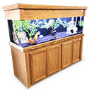 "R&J Enterprises Aquarium Groove Series 72"" x 24"" x 30"" High Cabinet & Canopy"