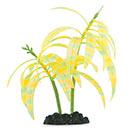 Glow in the Dark Orange Stripe Palm Aquarium Ornament