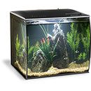 Fluval Flex Aquarium Kit - 9 gallon, Black, Freshwater, (Green Décor)