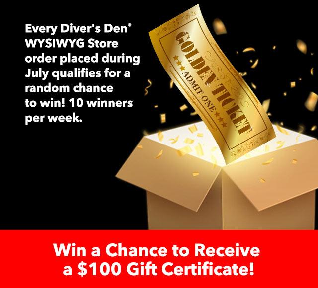 Diver's Den Golden Ticket
