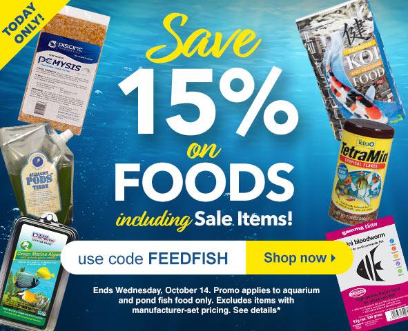 Save 15% on Food