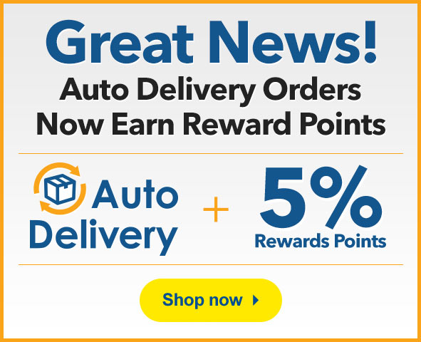 Auto Delivery orders earn Rewards