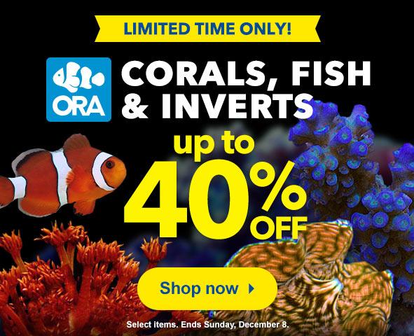 Save on ORA Corals, Fish, Inverts