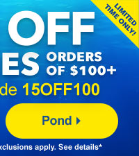Discount Pond and Water Garden Equipment and Supplies